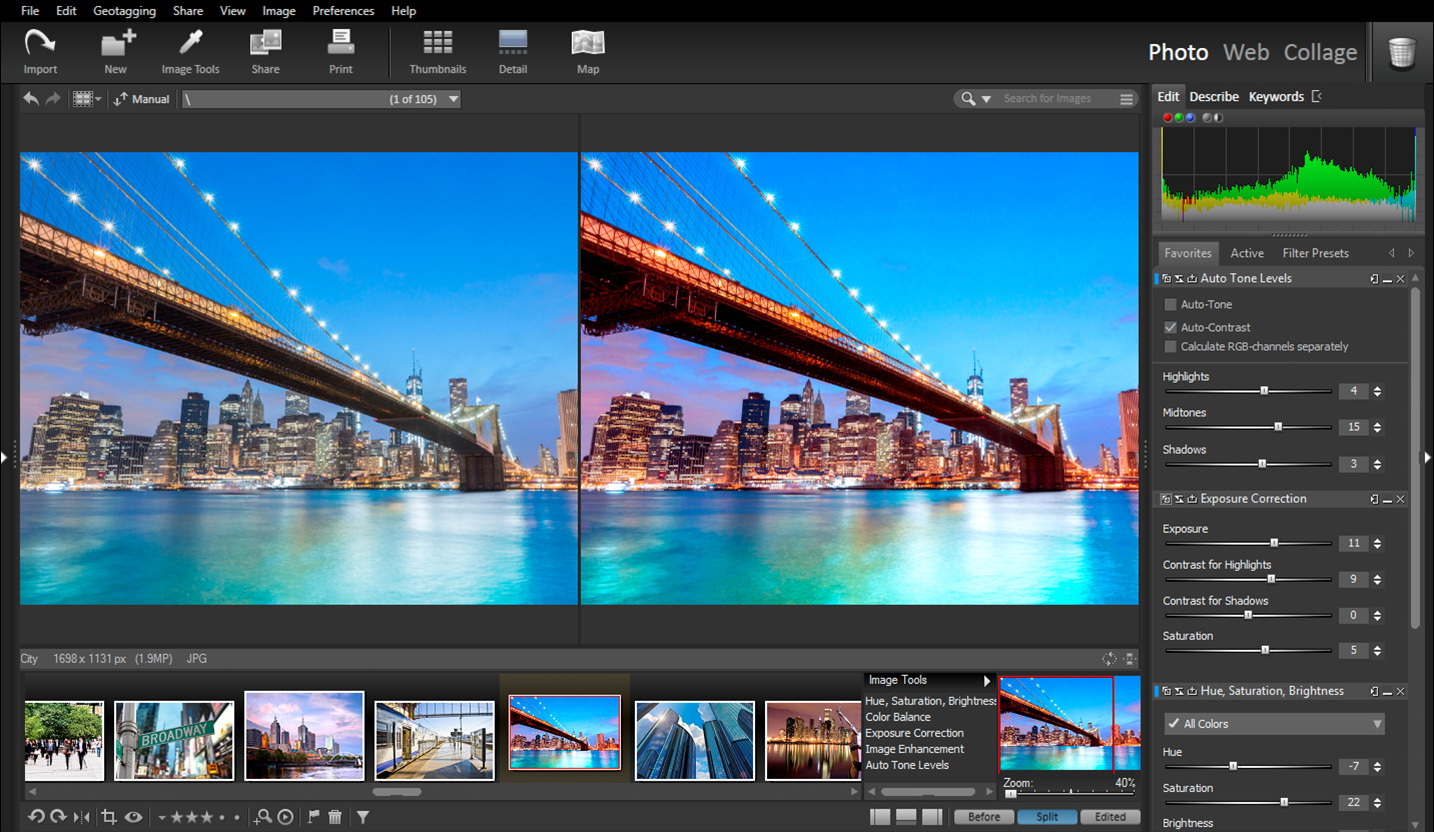 Click to view StudioLine Photo Pro 4.2.44 screenshot